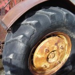 Massey Harris rear wheel with balast