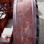 Massey Harris Fender with original paint visible